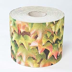 Videx Privacidad rayas impreso para vallas, vino hojas multicolor (brei Gau), B: 19cm, L: 26m