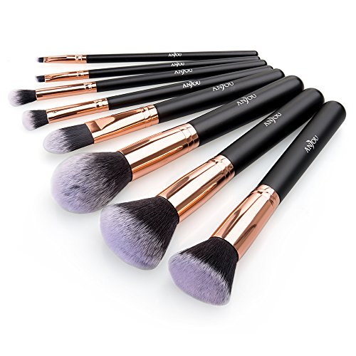 Anjou 8 Pieces Synthetic Makeup Brushes Set