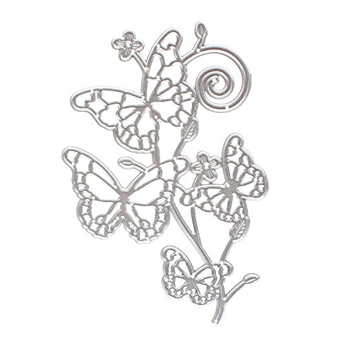 Cutting Dies Stencil for DIY Scrapbooking Die Cuts Embossing Folder Paper Card Craft(Four Butterfly) (Mini Alphabet Chipboard Set)