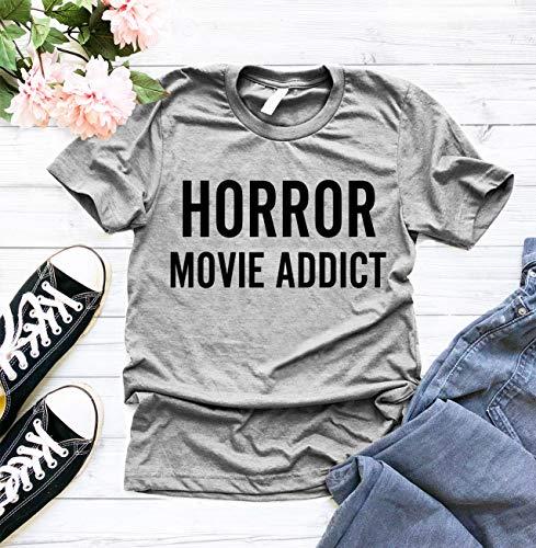 Horror Movie Addict T-shirt, Horror Nerd T Shirt, Horror Movie Shirt, Shirts for Horror Fan, Halloween T Shirt, Horror T Shirt, Women's Graphic -