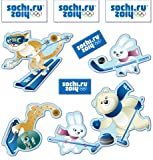 Sochi 2014 Olympic Wall Décor Stickers Set (9 Pieces) A012