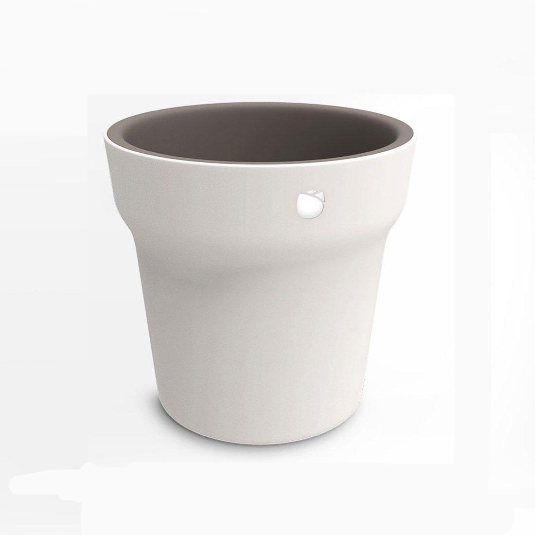 Ollivan® Pflanzen Sensor Blumentopf , Smart Bluetooth Pflanze Monitor Pflanztopf Die Bodenfeuchte und Fruchtbarkeitsüberwachung Grow Pot Pflanze Container Flower Pot Pflanzkübel Weiß Für Innen und Außen