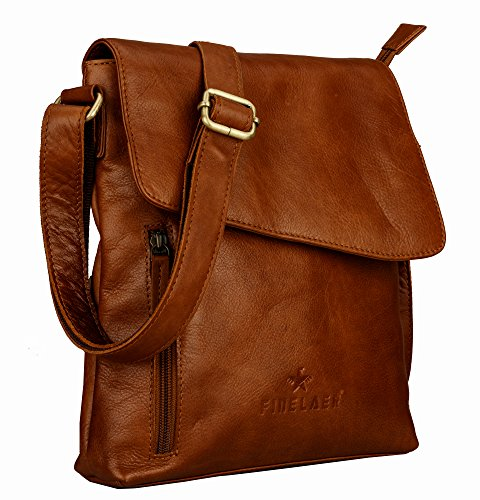 Crossover Bag Shoulder Leather Finelaer Brown Crossbody aOxEnUq