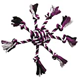 Zanies Crazy Eight Rope Dog Toys, Purple