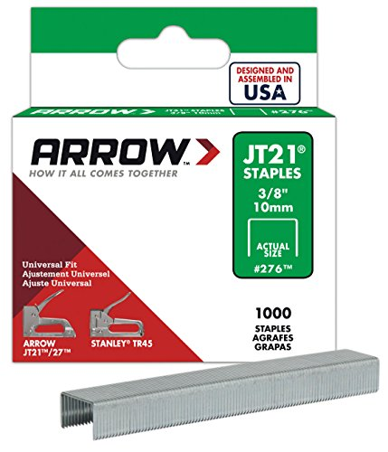 Arrow Fastener 2-Pack Genuine JT21/T27 3/8-Inch Staples