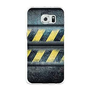 Funda Gel Samsung Galaxy S6 BeCool Metal Rayas Advertencia