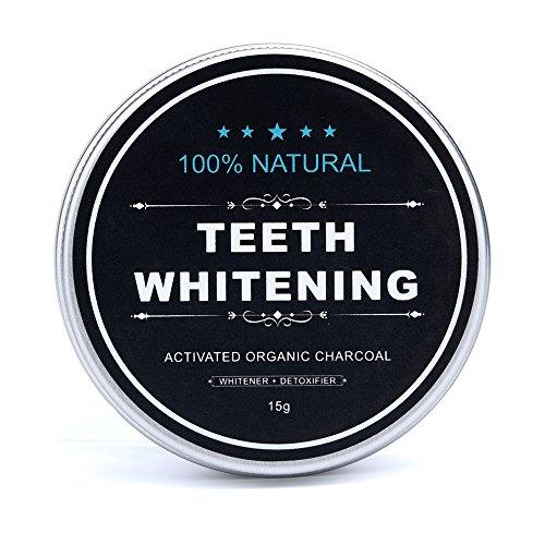 Hennta 15g natural orgánico activado carbón de bambú polvo dientes blanqueamiento total blancos seguro eficaz blanqueador...