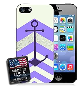 Colorful Purple Chevron Anchor iPhone 4/4s Hard Case