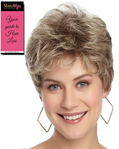 Flirt Petite Cap Wig Color GL 6-30 MAHOGANY - Gabor Wigs Short Precision Layering Small Curls FlexLite Synthetic Womens Capless Personal Fit Bundle with MaxWigs Hairloss Booklet by Gabor