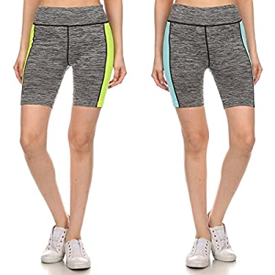 2 Pack Ladies Workout Capris Yoga Shorts For Women Athletic Performance Active Wear Biking Running