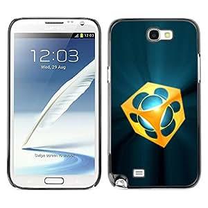 Caucho caso de Shell duro de la cubierta de accesorios de protección BY RAYDREAMMM - Samsung Galaxy Note 2 N7100 - Abstract
