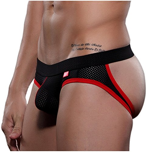 Arjen Kroos Men's Athletic Supporter Performance Jockstrap Elastic Waistband Bulge Underwear (Medium, Black) (Game Football Sexy)