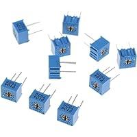 10 Piezas 3362P Resistencia Variable Potenciómetro De Recortador