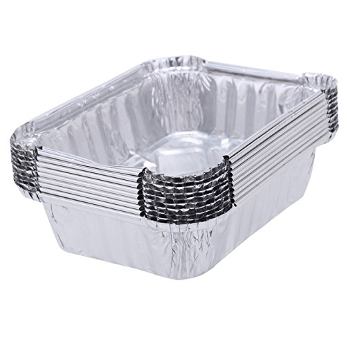 Disposable Aluminum Foil Take-out Containers (100, Standard Size whit lids)