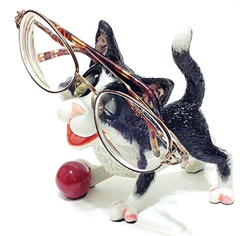 Black & White Kitty Cat Lovers Novelty Eyeglass Holder Stand (LCK)
