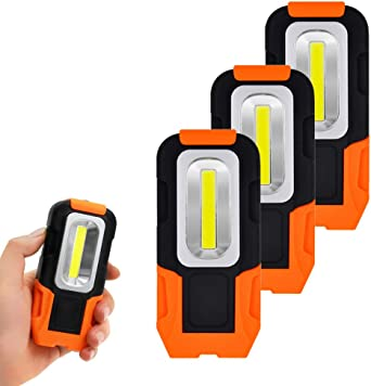 16x2,5x2 cm Dicomi 3 Modi COB LED Arbeitsleuchte Taschenlampe Portable ABS Drehbare Batteriebetriebene Notbeleuchtung f/ür Familien Camping Wandern Gr/ün