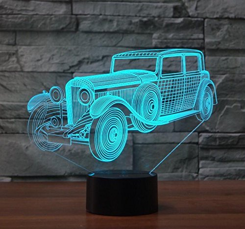 Jinnwell 3d Car Night Light Lamp Optical Illusion Night Light 7