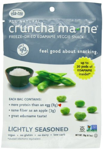 Eda-Zen Cruncha ma-me Edamame Veggie Snack, Lightly Seasoned, 0.7 Ounce (Pack of 8)