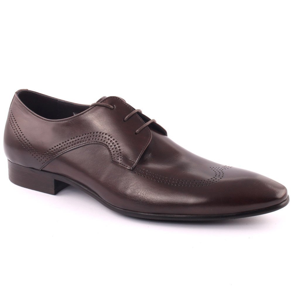 Unze Men's 'Cosbuz' Leather Dress Laced-up Prom Wedding Party Office Formal Shoes UK Size 7-11 - H398-209