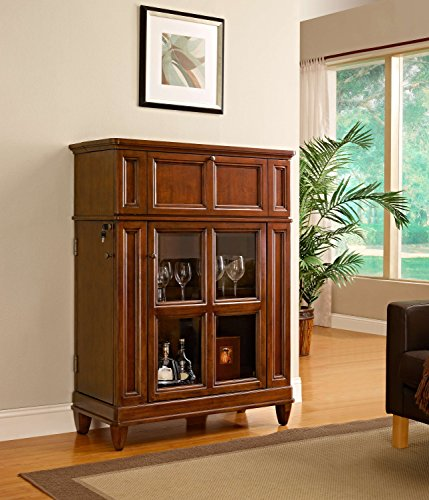 Pulaski Jensen Bar Cabinet, Espresso Brown: Amazon.co.uk: Kitchen U0026 Home