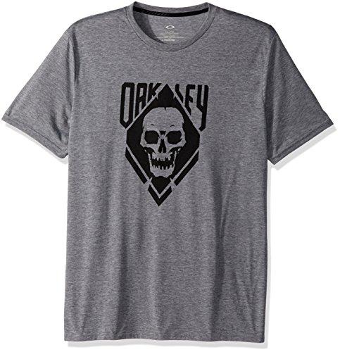 Oakley Men's O Skull, Athletic Heather Grey, - Skull Oakley