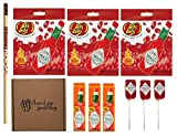 Tabasco variety bundle in a gift box- 10 Items (3) Tabasco Sauce 2oz (3) Tabasco Jelly Bellies 3.1oz (3) Tabasco Suckers (1) Tabasco Pencil