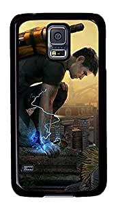 S5 Case, Galaxy S5 Case, Samsung Galaxy S5 Case - Hard PC Protective Infamous 2 Case Black Cover Heavy Duty Protection Shock-Absorption / Impact Resistant Slim Case for Galaxy S5 / Galaxy SV / Galaxy S V / Galaxy i9600
