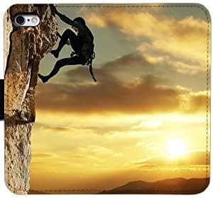 Grouden R Create and Design Folio Case,Climb Sun Man Climbing Extreme Leather Wallet Cell Phone Case for iPhone 6 6S 4.7 inch,GHL-1681452