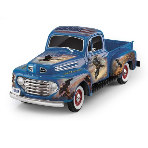 1:36-Scale Ford F1 Sculpture With Ted Blaylock Eagle Art by The Hamilton Collection