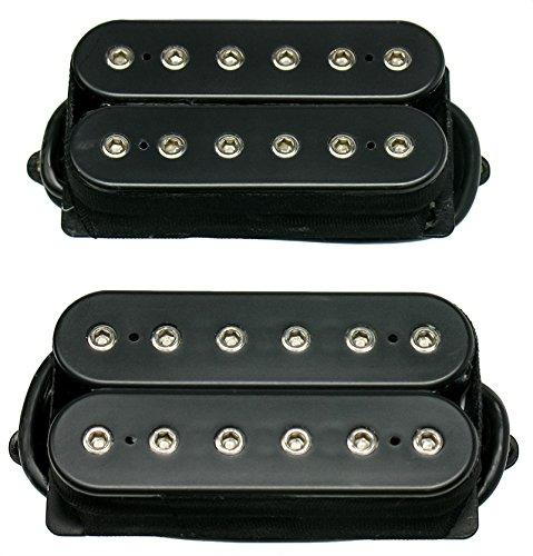 DiMarzio Jake Bowen TITAN Humbucker Guitar Pickup Set, Black, Regular Spacing