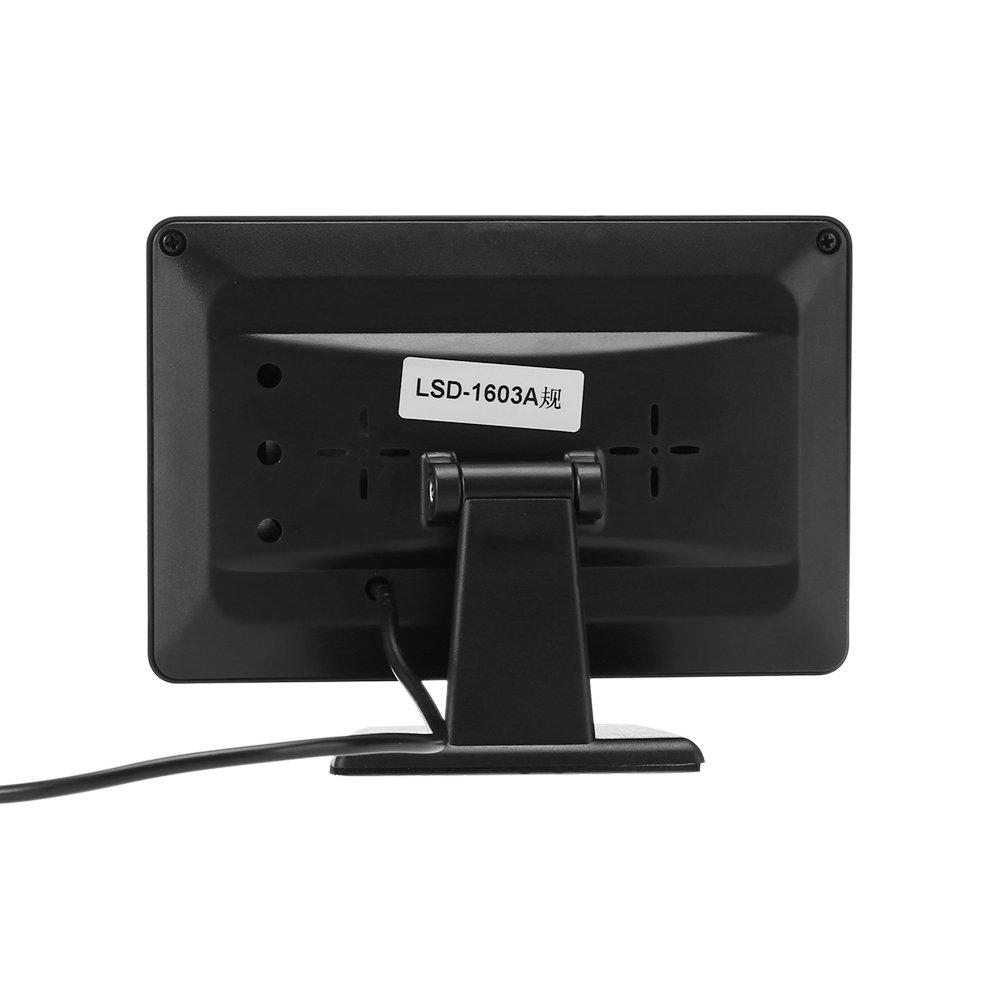 Digitales Auto-R/ückfahrkamera-Set mit Nachtsicht TFT // LCD wasserdicht mit 10,9/cm gro/ßem Farb-Monitor Stromversorgung Videokamera 4,3 Zoll