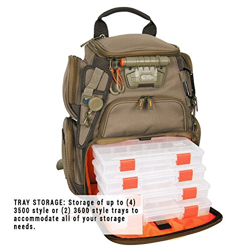 Wild River by CLC WT3503 Tackle Tek Recon Lighted Compact Tackle Backpack with Four PT3500 Trays and Clear, Water-resistant Phone Storage by Custom Leathercraft (Image #2)