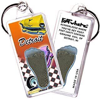 "product image for Detroit""FootWhere"" Souvenir Keychain. Made in USA (DT102-57 Chevy)"