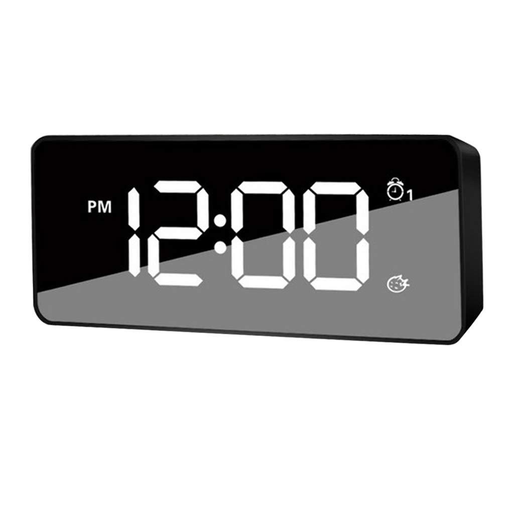 Homyl Num/érique /à LED Horloge Murale Miroir R/éveil D/écoration De Maison dor