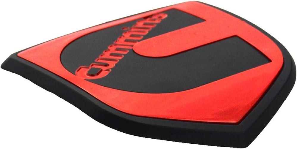 White Black 1Pcs Cummins Head Emblem Front Badge Sticker Replacement For Cummins