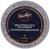 Timothy's Colombian Decaf Coffee Keurig K-Cups, 24 Count