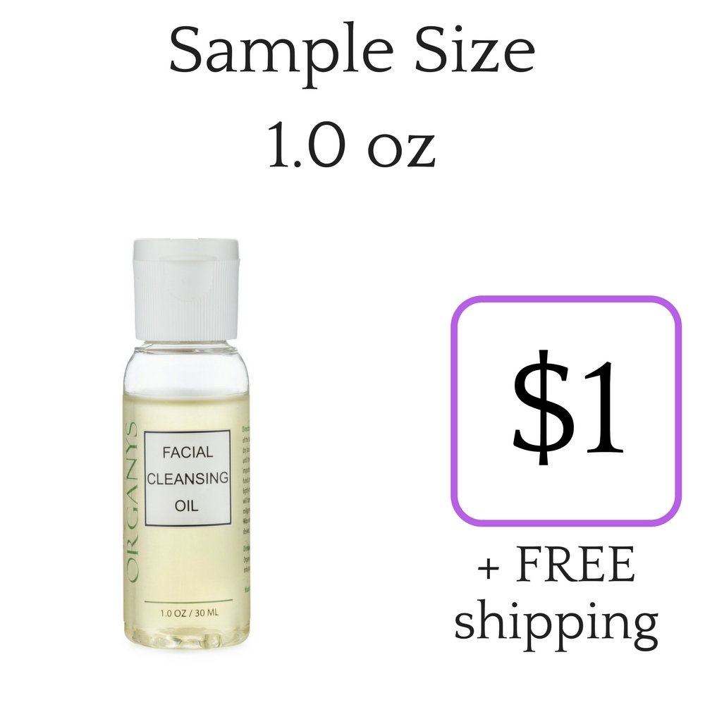 Organys Gentle Facial Cleansing Oil & Makeup Remover Best Natural Anti Aging Daily Face Wash Cleanser Reduce The Look Of Pores Acne Blackheads Breakouts Wrinkle For Sensitive Oily Dry Combination Skin