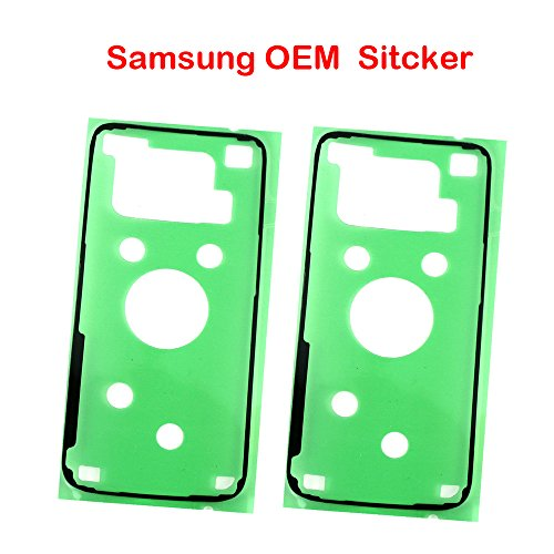 2 Pack Samsung OEM Original Back Rear Cover Battery Cover Sticker Adhesive Glue Tape for Samsung Galaxy S7 Edge G935(ALL CARRIERS) ()