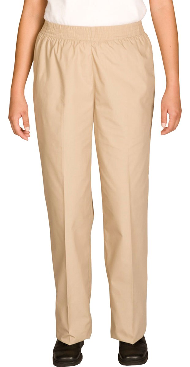 Ed Garments Elastic Waistband Housekeeping Pant, TAN, X-Small