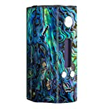 Skin Decal Vinyl Wrap for Wismec Reuleaux RX200 Vape Mod Skins Stickers Cover / Abalone Shell Green Swirl Blue Gold