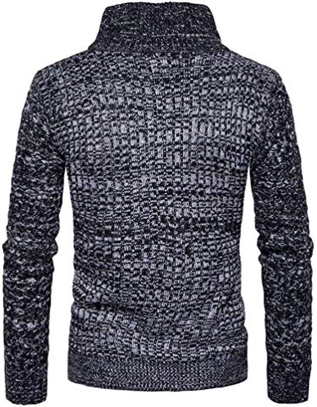 Męska jesień zima kurtka kurtka dziana modna bluza elegancka odzież bluza sweter bluza kołnierz odzież z dzianiny z zamkiem błyskawicznym: Odzież