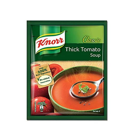 Knorr Classic Tomato Soup with 100% Real Vegetabls, No Added Preservatives, 53 g