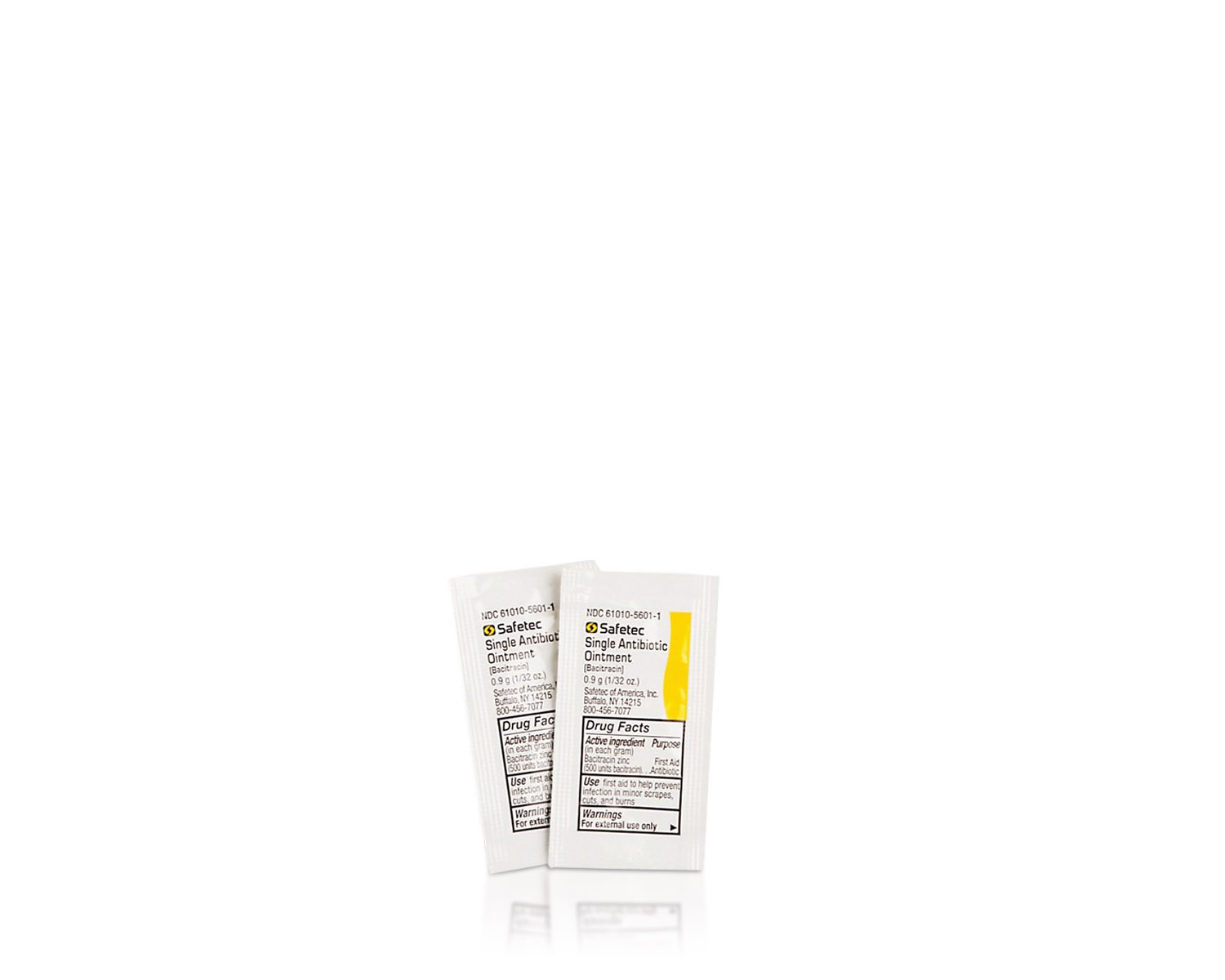 Safetec Antibiotic (Bacitracin) Ointment, .9 g. pouch (bulk package - 2000 count) by Safetec