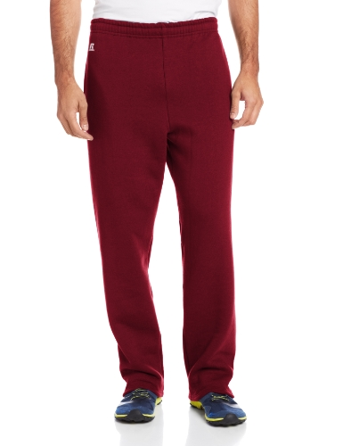 Russell Athletic Men's Dri-Power Open Bottom Sweatpants with Pockets, Maroon, 3X-Large ()