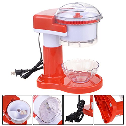 electric-ice-shaver-crusher-machine-snow-cone-maker-commercial-shaved-red-new