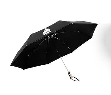 ZHDC Completamente automático doblez paraguas Doble capa Aumento Soleado lluvia doble paraguas Hombres Commerce Doblez paraguas