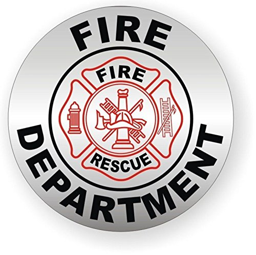 1 Pcs Overwhelming Unique Fire Department Rescue Window Sticker Signs Mac Apple Macbook Laptop Luggage Hoverboard Wall Graphics Safe Badge Decals Decor Vinyl Art Stickers Decal Patches Size 2'