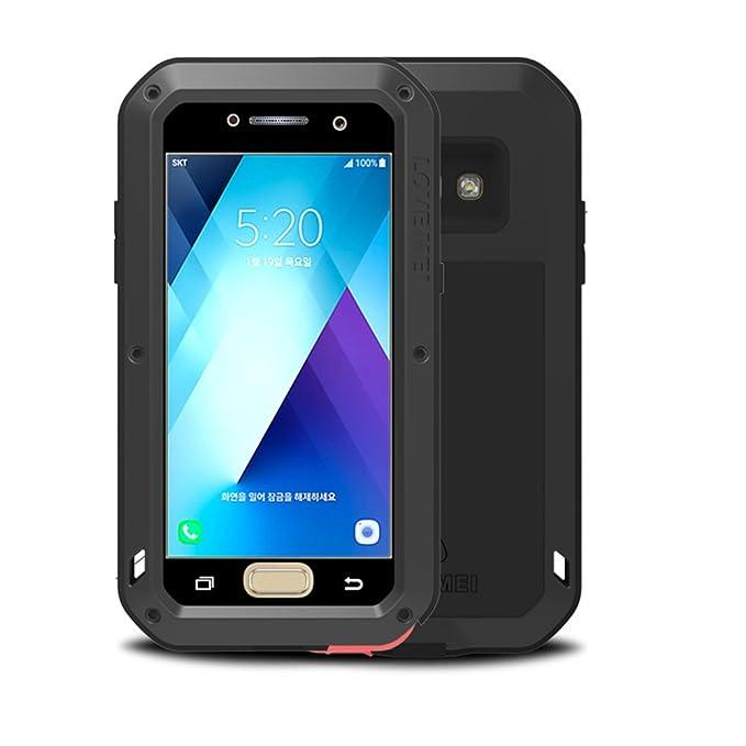 reputable site e26ba 29c5c Samsung Galaxy A5 2017 A520 Case,Feitenn Extreme Hybrid Armor Alloy  Aluminum Metal Bumper Soft Rubber Military Heavy Duty Shockproof Hard Case  For ...