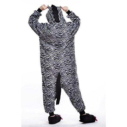 Unisexe Amurleopard Pyjama Costume Onesie L Pingouin Adulte Zèbre Vêtements Combinaison Déguisement Nuit Animal wfq1nrfE4F
