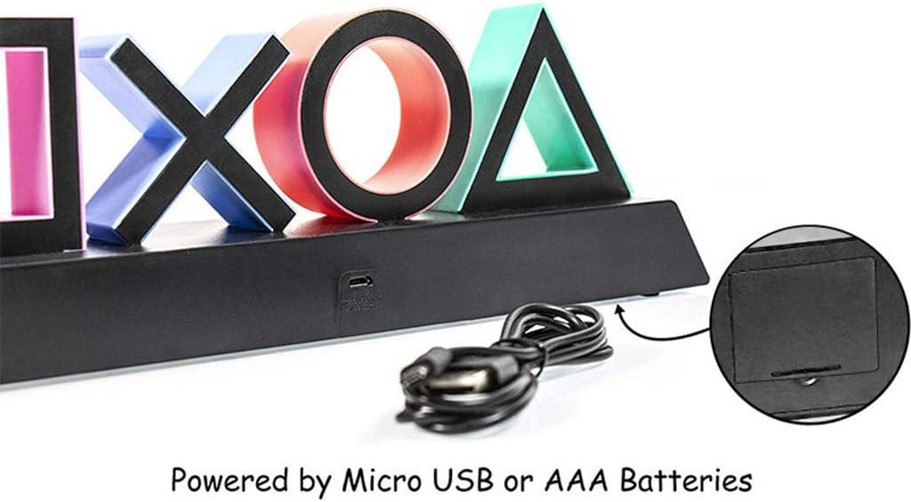 CAOREN Playstation Sign Voice Control Game Icon Light Acrylic Atmosphere Neon Bar Lamp Club KTV Decorative Ornament